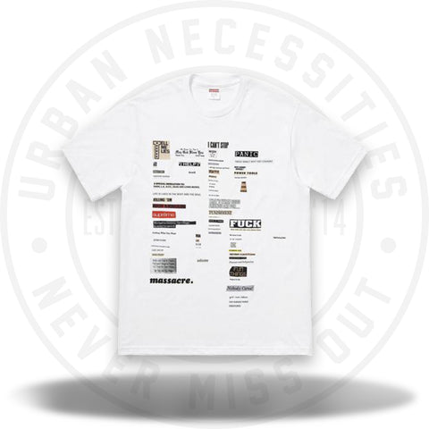 Supreme Cutouts Tee White-Urban Necessities