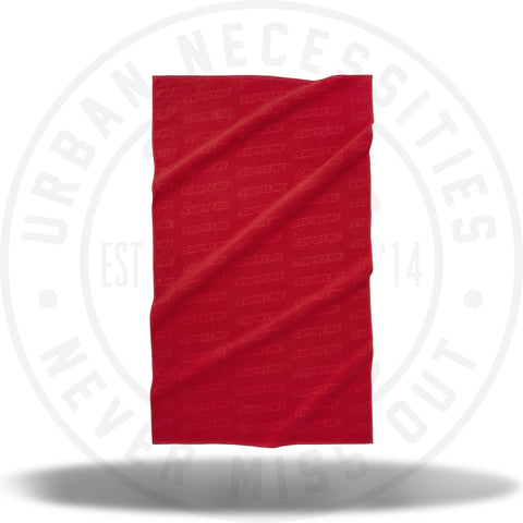 Supreme Debossed Logo Beach Towel Red-Urban Necessities