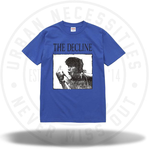 Supreme Decline of The Western Civilization Tee Blue-Urban Necessities