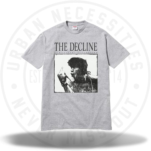 Supreme Decline of Western Civilization Tee Heather Grey-Urban Necessities