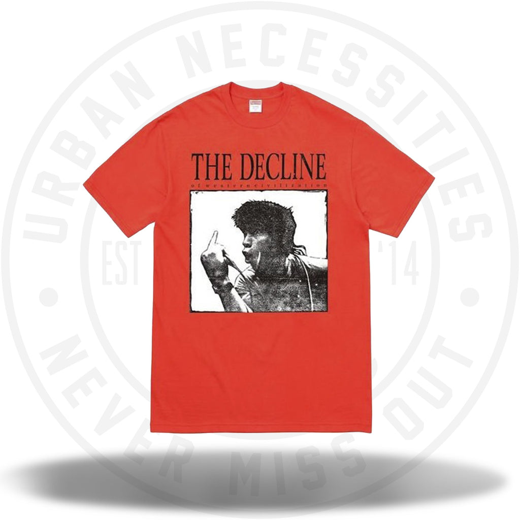 Supreme Decline of Western Civilization Tee Orange-Urban Necessities