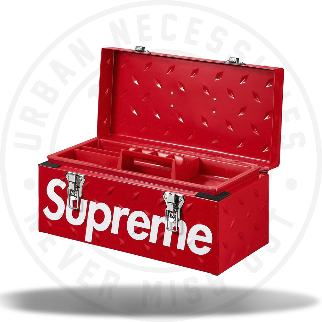 Supreme Diamond Plate Tool Box Red-Urban Necessities