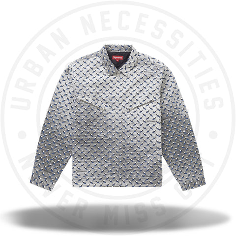 Supreme Diamond Plate Work Jacket White-Urban Necessities