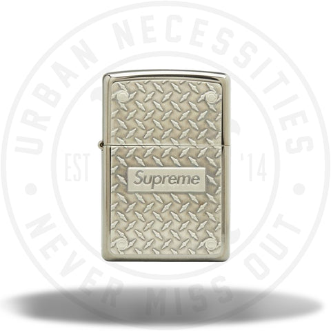 Supreme Diamond Plate Zippo Metal-Urban Necessities