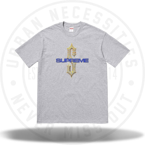 Supreme Diamonds Tee Heather Grey-Urban Necessities