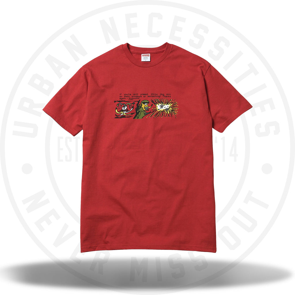 Supreme Dog Shit Tee Red-Urban Necessities
