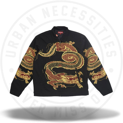 Supreme Dragon Work Jacket Black-Urban Necessities