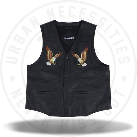 Supreme Eagle Leather Vest Black-Urban Necessities