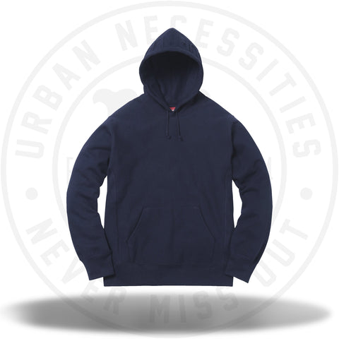 Supreme Embossed Logo Hooded Sweatshirt Navy FW2017-Urban Necessities