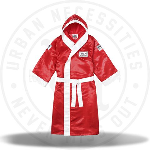 Supreme Everlast Satin Hooded Boxing Robe Red-Urban Necessities
