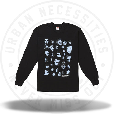 Supreme Faces L/S Tee Black-Urban Necessities