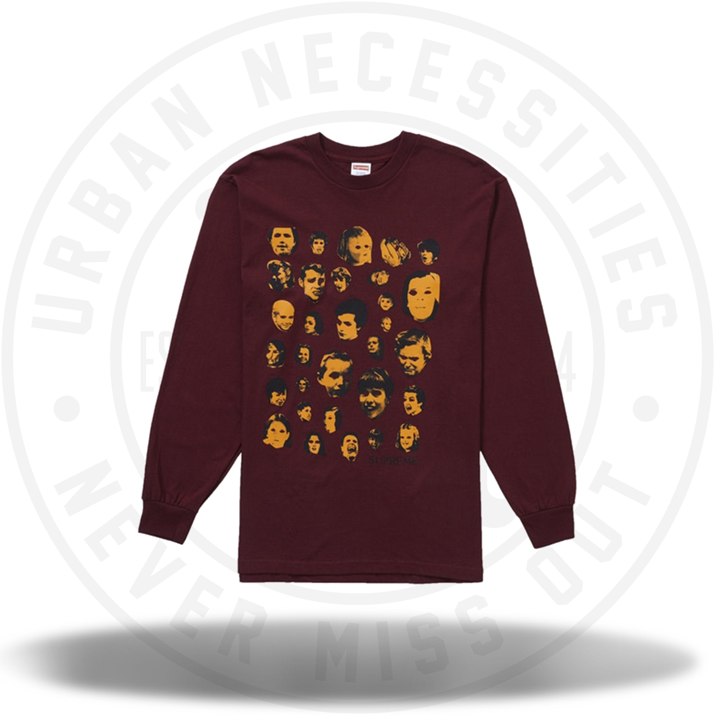Supreme Faces L/S Tee Burgundy