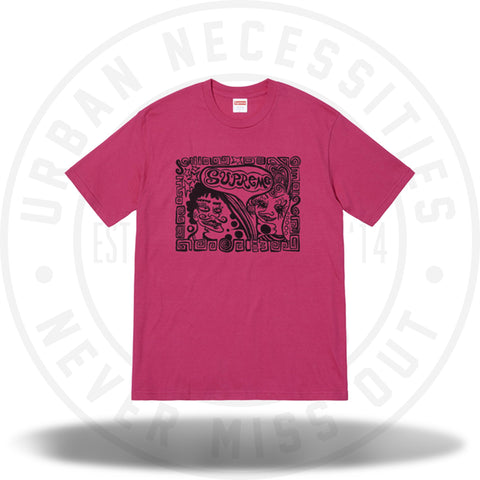 Supreme Faces Tee Dark Pink-Urban Necessities