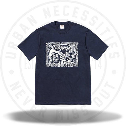 Supreme Faces Tee Navy-Urban Necessities