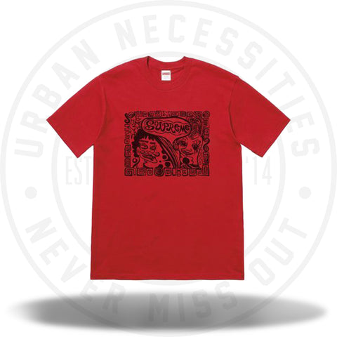 Supreme Faces Tee Red-Urban Necessities