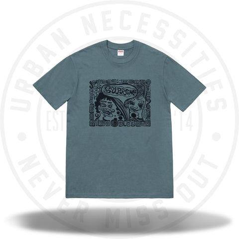 Supreme Faces Tee Slate-Urban Necessities
