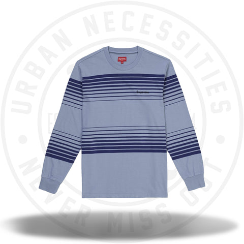 Supreme Fade Stripe L/S Top Slate-Urban Necessities