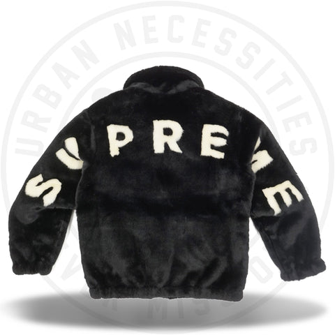 Supreme Faux Fur Bomber Jacket Black-Urban Necessities
