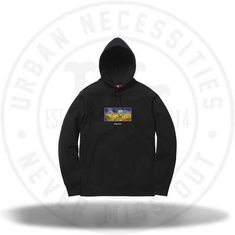 Supreme Field Hooded Sweatshirt Black-Urban Necessities