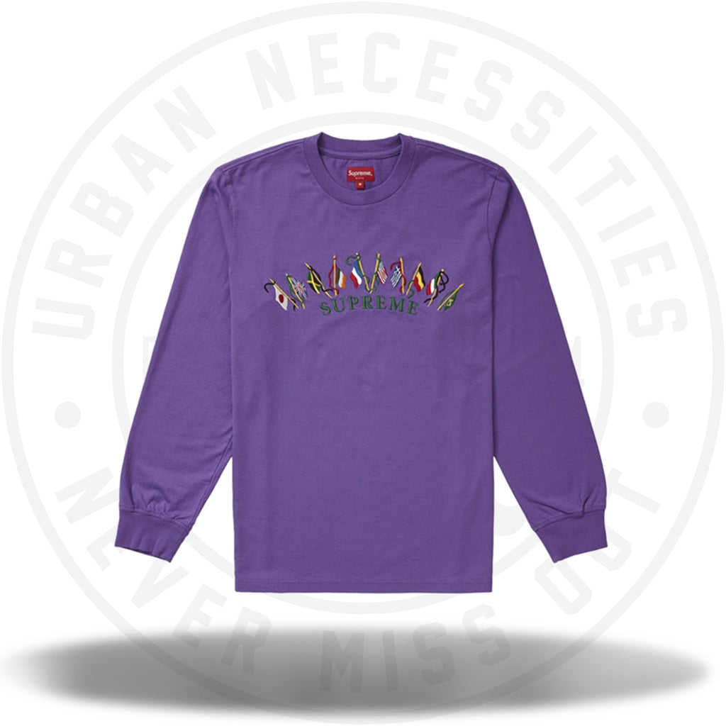Supreme Flags L/S Top Violet-Urban Necessities