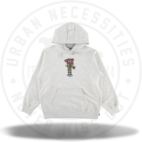 Supreme Flowers Hooded Sweatshirt Ash Grey-Urban Necessities