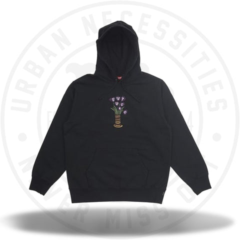 Supreme Flowers Hooded Sweatshirt Black-Urban Necessities