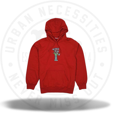 Supreme Flowers Hooded Sweatshirt Red-Urban Necessities