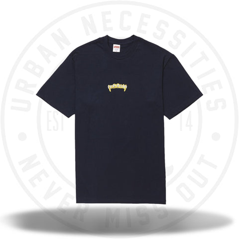 Supreme Fronts Tee Navy-Urban Necessities