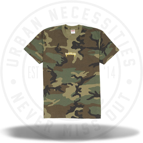 Supreme Fronts Tee Woodland Camo-Urban Necessities