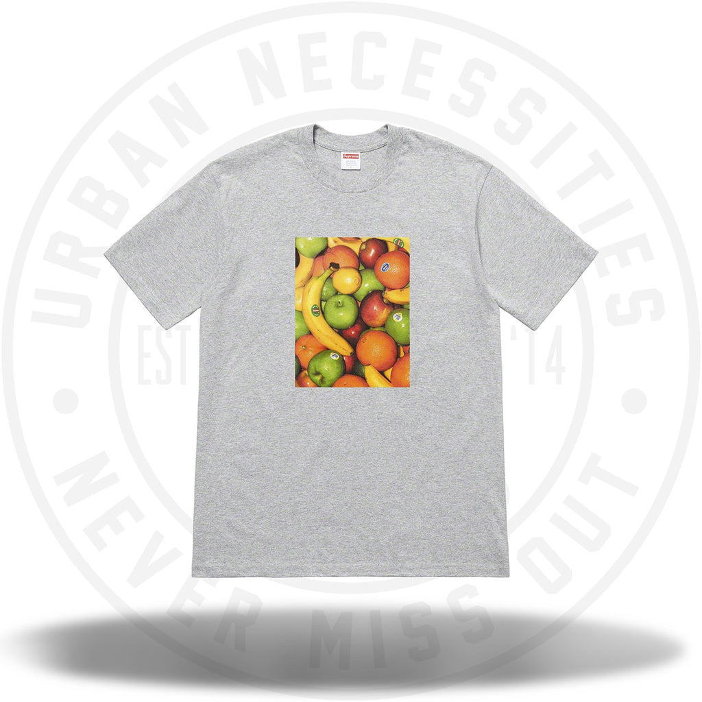 Supreme Fruit Tee Heather Grey SS19-Urban Necessities