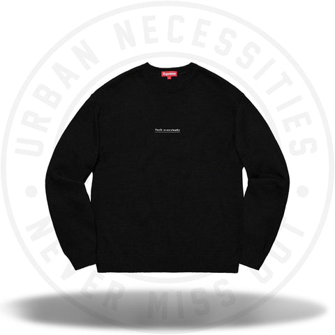 Supreme Fuck Everybody Sweater Black-Urban Necessities