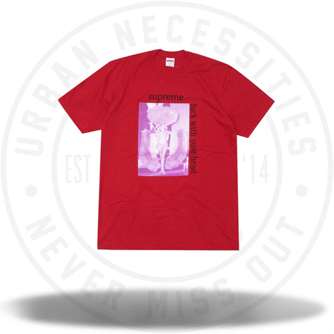 Supreme Fuck With Your Head Tee Red-Urban Necessities