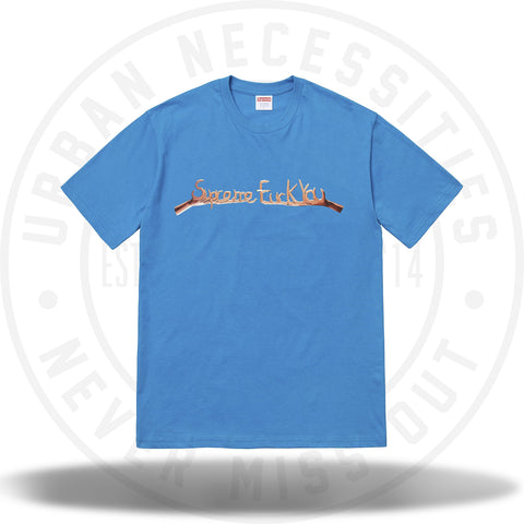Supreme Fuck You Tee Bright Blue-Urban Necessities