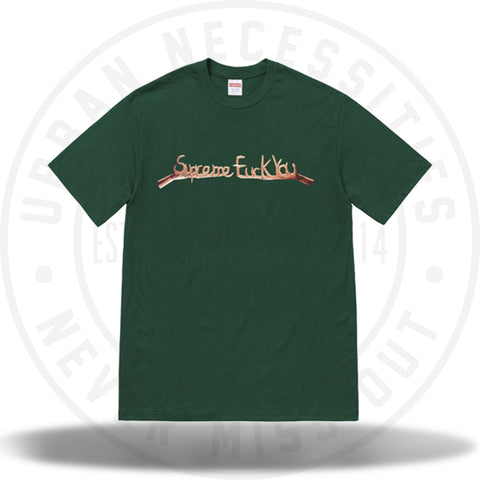 Supreme Fuck You Tee Dark Green (FW18)-Urban Necessities