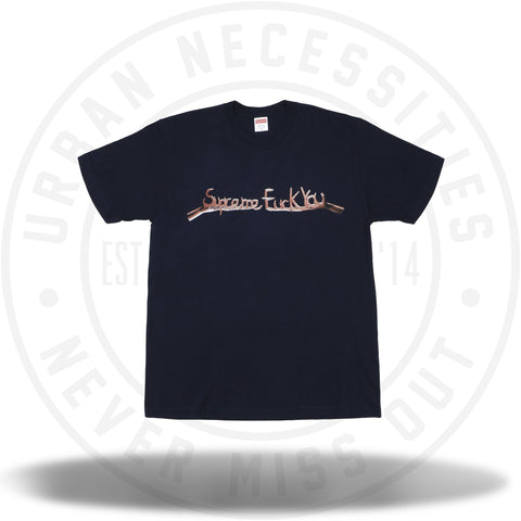 Supreme Fuck You Tee Navy-Urban Necessities