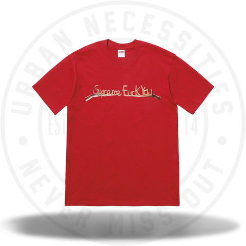 Supreme Fuck You Tee Red-Urban Necessities
