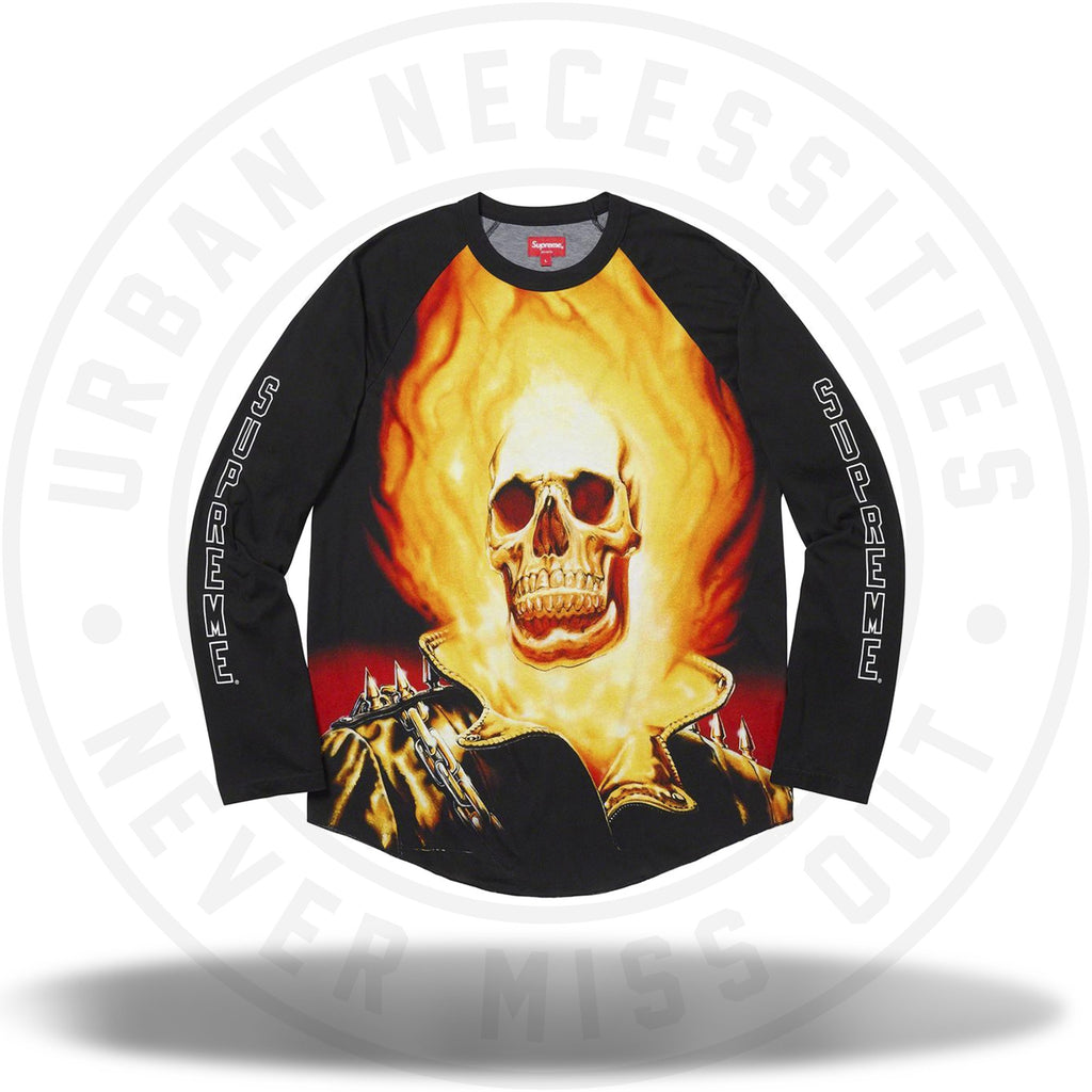 Supreme Ghost Rider Raglan L/S Top-Urban Necessities