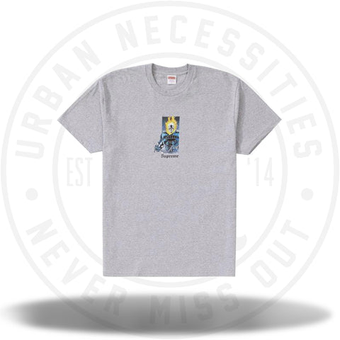 Supreme Ghost Rider Tee Heather Grey-Urban Necessities