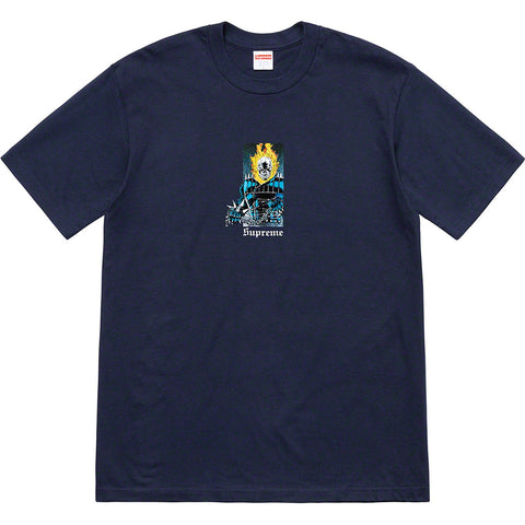 Supreme Ghost Rider Tee Navy-Urban Necessities