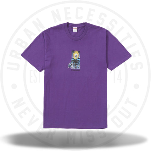 Supreme Ghost Rider Tee Purple-Urban Necessities