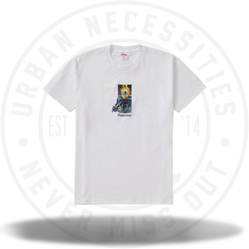 Supreme Ghost Rider Tee White-Urban Necessities