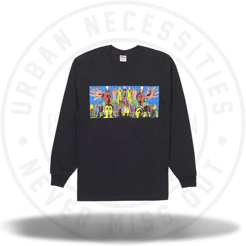Supreme Gilbert and George DEATH AFTER LIFE L/S Tee Black-Urban Necessities