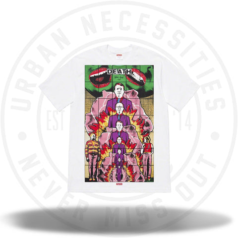 Supreme Gilbert and George DEATH Tee - White-Urban Necessities