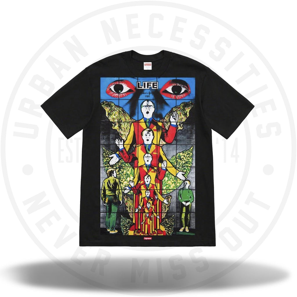 Supreme Gilbert and George LIFE Tee - Black-Urban Necessities