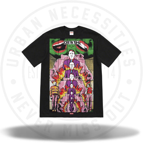 Supreme Gilbert And George/Supreme DEATH Tee Black-Urban Necessities