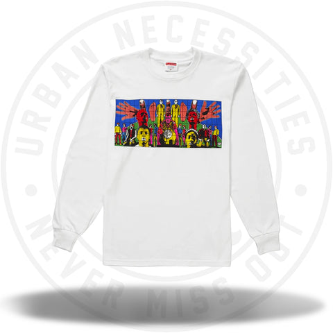 Supreme Gilbert & George DEATH AFTER LIFE L/S Tee White-Urban Necessities
