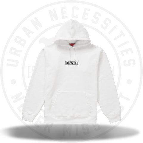 Supreme Gilbert & George DEATH Hooded Sweatshirt White-Urban Necessities