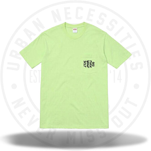Supreme Go Fuck Yourself Pocket Tee Lime SS17-Urban Necessities