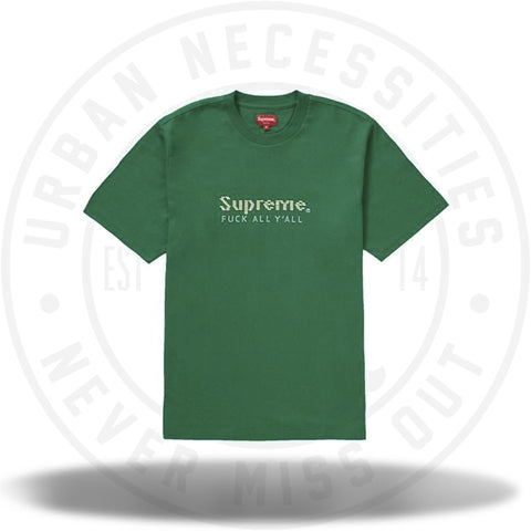 Supreme Gold Bars Tee Green-Urban Necessities