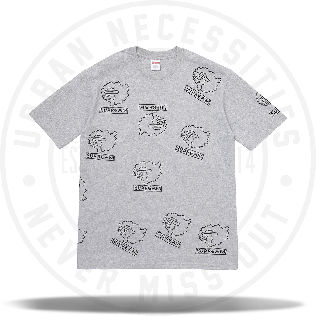Supreme Gonz Heads Tee Heather Grey-Urban Necessities